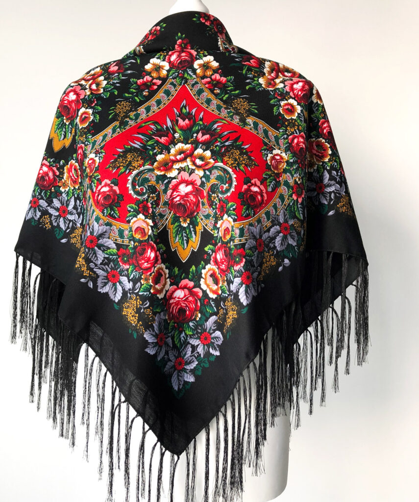 Tuch-Russisch-Tuch-Wolle-Trachtentuch-Schal-Russian-scarf-shawl- foulard-russe-Le-châle-russe-scialle-russo-Pañuelo-Chalina-Rusa-Pañuelo-Chal-Tradicional-Ruso-ロシア-スカーフ